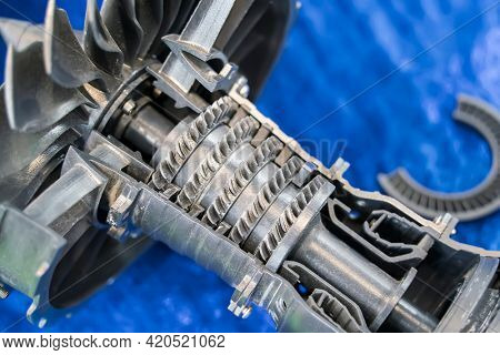 3D printer jet engine printed model plastic