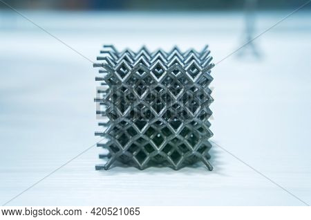 Metal products made by metal 3D printing. Modern additive technology.