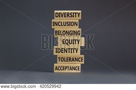 Diversity, Inclusion Symbol. Diversity Belonging Inclusion Equity Identity Tolerance Acceptance Word