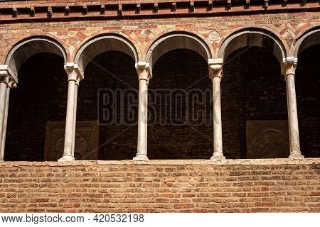 Cloister Of The Basilica Of Santo Stefano Also Known By The Name Of The Seven Churches In Early Chri