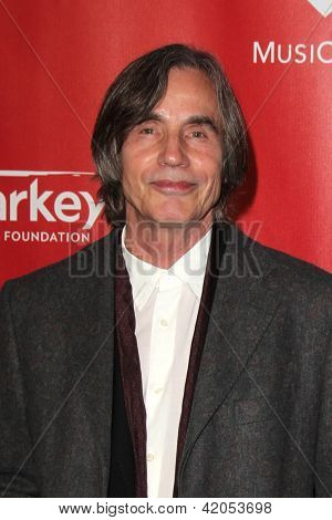 LOS ANGELES - FEB 8:  Jackson Browne arrives at the 2013 MusiCares Person Of The Year Gala Honoring Bruce Springsteen  at the Los Angeles Convention Center on February 8, 2013 in Los Angeles, CA