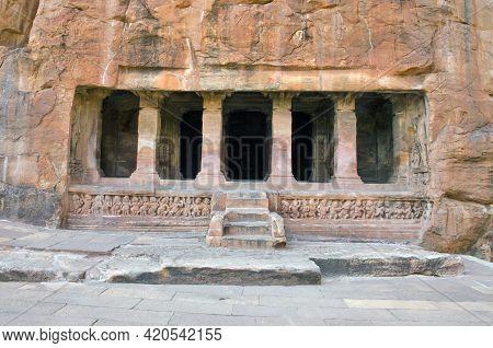 Badami Karnataka India On 8th April 2016:the Badami Cave Temples Are A Complex Of Hindu And Jain Cav