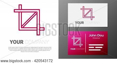 Logotype Line Picture Crop Photo Icon Isolated On White Background. Logo Design Template Element. Ve