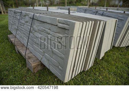 A Build Prefabricated Or Precast Concrete Fence