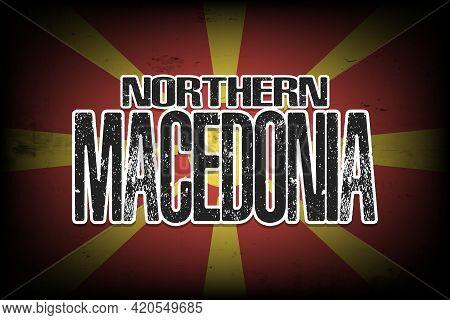 National Flag Of Northern Macedonia
