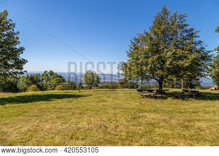 Scenic View Of The Landscape From The Top Of The Dolmar Mountain In Thuringia