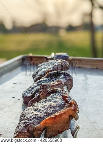 Grilled Picanha Ribeye Steaks Ready To Eat