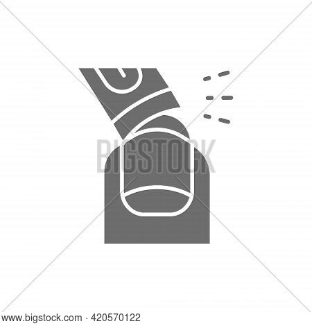 Vector Nail Extension, Manicure Tips Gray Icon.