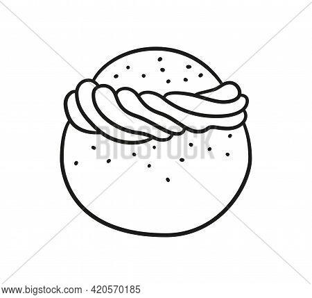 Semla, Vastlakukkel, Laskiaispulla Or Fastlagsbulle Is A Traditional Sweet Roll Made In Various Form