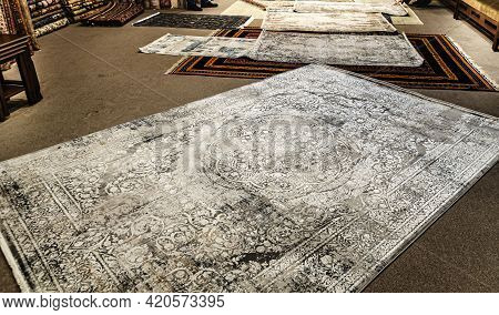 Carpet Patterned Background Factory Carpets Delicate Pattern Persian Carpet Texture, Abstract Orname