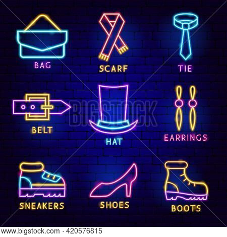 Fashion Clothing Label Set. Vector Illustration Of Clothes Promotion.