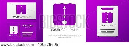 Logotype Depth Measurement Icon Isolated On White Background. Water Depth. Logo Design Template Elem