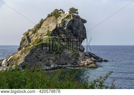 Featured In The Hit Film Musical Mama Mia, The Chapel Of St John The Baptist Sits Dramatically On Th