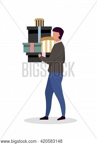 Male Consumer Flat Color Vector Faceless Character. Following High Fashion. Male-oriented Marketing.