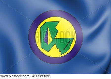 3d Flag Of Castanhal (para State), Brazil. 3d Illustration.