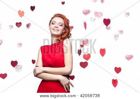 smiling red-haired girl