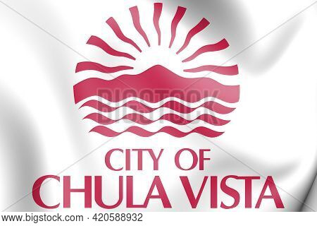 3d Seal Of Chula Vista (california), Usa. 3d Illustration.