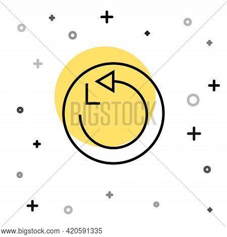 Black Line Radius Icon Isolated On White Background. Random Dynamic Shapes. Vector