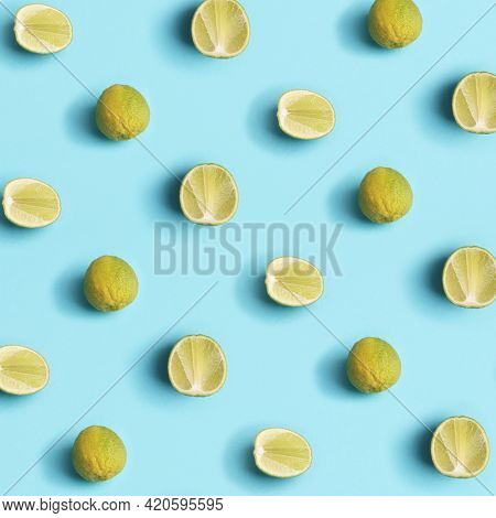 Summer lime organic fruit background pattern trendy colors