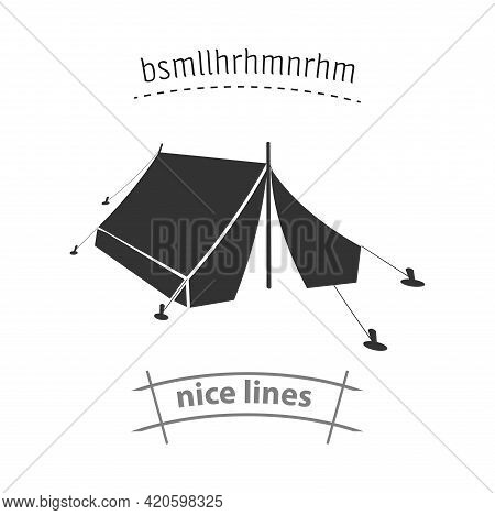 Tent Icon. Camping Tent Simple Vector Icon. Camping Tent Isolated Icon