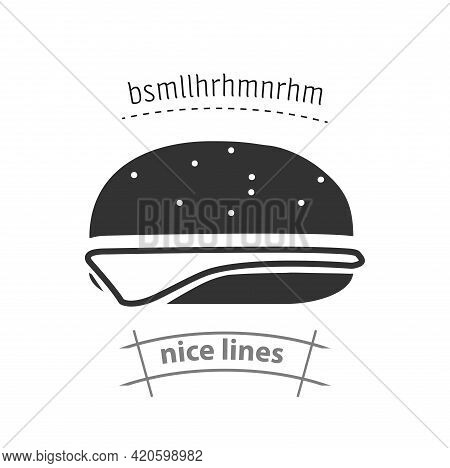Hamburger Simple Vector Icon. Hamburger Isolated Icon