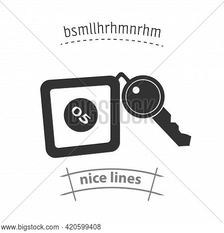 Hotel Room Key Simple Vector Icon. Hotel Room Key Isolated Icon