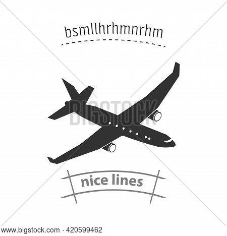 Plane Flat Icon. Plane Simple Vector Icon. Plane Isolated Icon