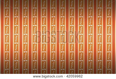Striped background with a floral pattern