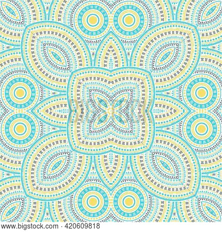 Subtle Italian Maiolica Tile Seamless Rapport. Geometric Texture Vector Swatch. Quilt Print Design.