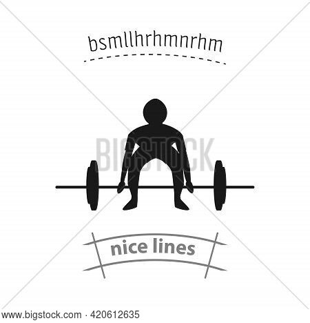 Weightlifting Simple Vector Icon. Weightlifting Isolated Icon