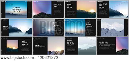 Presentation Design Vector Templates, Multipurpose Template For Presentation Slide, Brochure Cover,