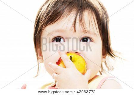 Girl Enjoying Apple