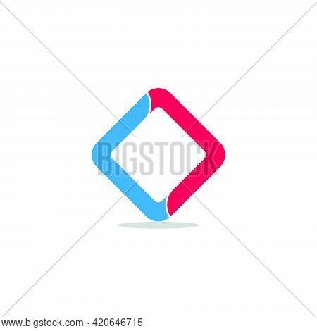 Letter Cc Square Shadow Geometric Logo Vector