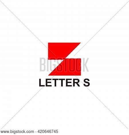 Letter S Geometric Tile Shape Simple Logo Vector