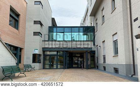 Bologna - Italy - May 1, 2021: Istituto Di Ematologia E Oncologia Medica Seragnoli (seragnoli Instit