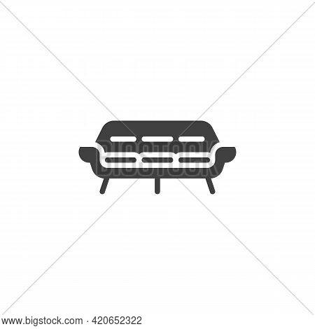 Vintage Sofa Vector Icon. Filled Flat Sign For Mobile Concept And Web Design. Retro Sofa Glyph Icon.