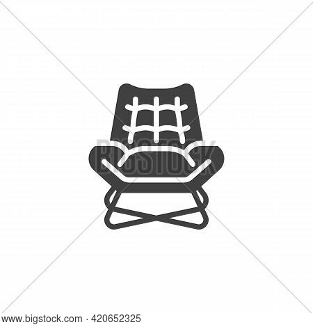 Vintage Armchair Vector Icon. Filled Flat Sign For Mobile Concept And Web Design. Retro Armchair Gly