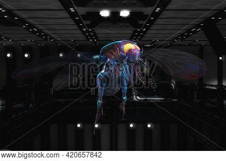 Artistic 3d Illustration Rendering Of A Cockroach