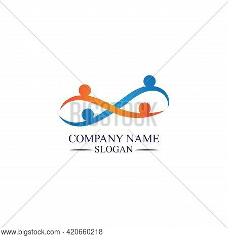 Family Care Infinity Logo Familly Illustration Logo Template Design