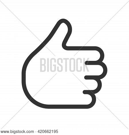 Like Thumb Up Icon. Hand Gesture Symbol Sign. Social Media Thumbs Up Logo Button. Vector Illustratio
