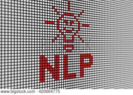 Nlp Text Scoreboard Blurred Background 3d Illustration