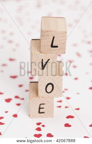 The Word Love Misspelled.