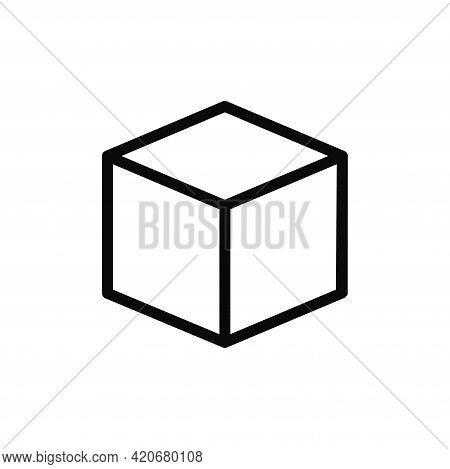 Cube Icon Isolated On White Background. Cube Icon In Trendy Design Style For Web Site And Mobile App