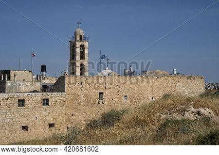 Jerusalem, Israel - May 6th, 2021: Mar Elias, A Greek Orthodox Monastery On Southern Jerusalem, On A