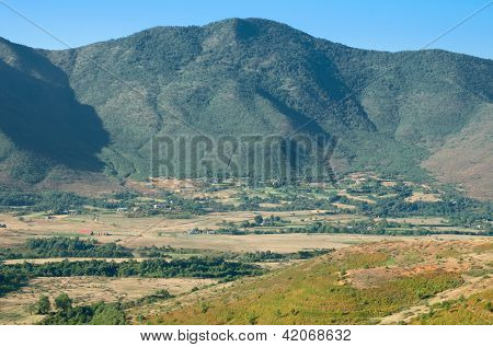 beautiful landscape of Northern Albania on the border with Kosovo poster