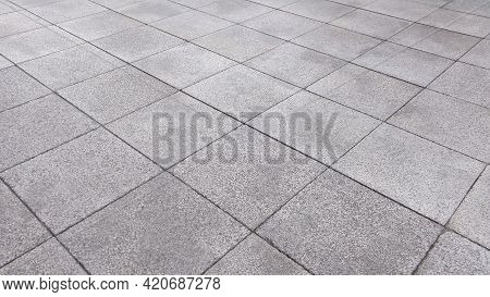 The Surface Of Pavement Cement Brick Floor.