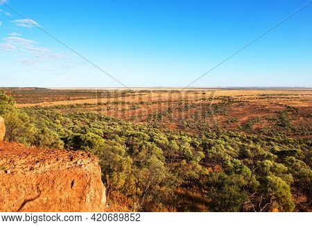 Scenery Surrounding The Remote Town Of Winton, In Western Queensland, Australia.  This Scene Was Cap