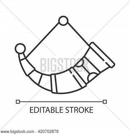 Drinking Horns Linear Icon. Drinking Vessel In Viking Household. Hand-crafted Medieval Good. Thin Li