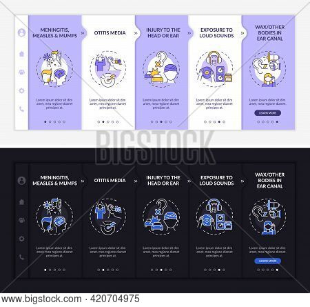 Obtained Hypoacusis Onboarding Vector Template. Responsive Mobile Website With Icons. Web Page Walkt