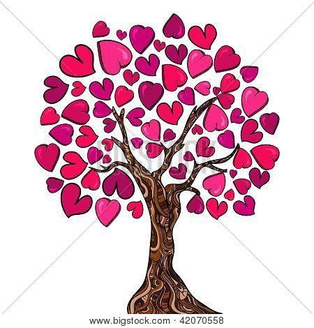 Love Concept Tree Card